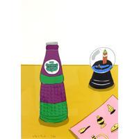 安西水丸「布とボトル」  mizumaru anzai