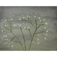 小池アミイゴ「昭和村のかすみ草」原画