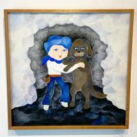 中村幸子「青い目のふたり」 原画作品