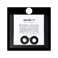 acrylic【サークル小 アルミ ブラック】 Aluminium Parts ゴムイヤリング