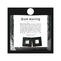 acrylic【スクエア小 ブラック】GUM EARRING parts アクリリック 坂雅子