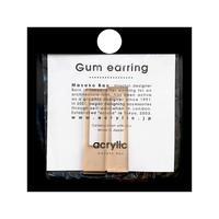acrylic【レクタングル ベージュ】GUM EARRING parts アクリリック 坂雅子