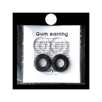 acrylic アクリリック GUM Earring +Parts SET【GUM ブラック + サークル小 クリア】ガム イヤリング パーツ セット イヤーカフ
