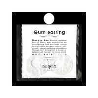 acrylic【サークル大 ホワイト 和紙】GUM EARRING parts アクリリック 坂雅子