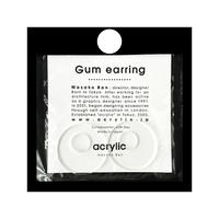 acrylic【サークル大 クリア】GUM EARRING parts  アクリリック 坂雅子