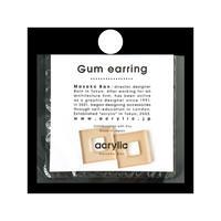 acrylic【スクエア小 ベージュ】GUM EARRING parts アクリリック 坂雅子