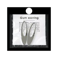 acrylic【ロングオーバル ミラー】GUM EARRING parts アクリリック 坂雅子
