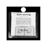 acrylic【スクエア シルバー ハニカム】GUM EARRING parts Honeycomb イヤーカフ 坂雅子 アクリリック