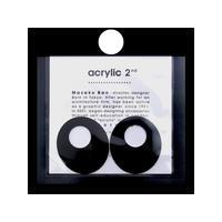 acrylic【オーバル アルミ ブラック】 Aluminium Parts ゴムイヤリング