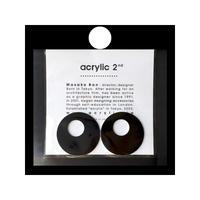 acrylic【サークル大 アルミ ブラック】 Aluminium Parts ゴムイヤリング