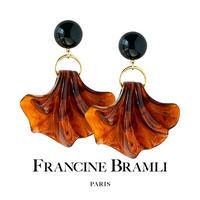 FRANCINE BRAMLI PARIS フランシーヌ ブラムリ パリ AMERIA BLACK&BROWN アメリア ブラック&ブラウン イヤリング