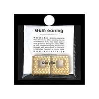 acrylic【スクエア ゴールド ハニカム】GUM EARRING parts Honeycomb イヤーカフ 坂雅子 アクリリック