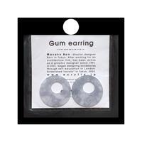 acrylic【サークル大 パープル 和紙】GUM EARRING parts アクリリック 坂雅子