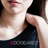 Dogeared ドギャード【faith small sideways cross necklace】 フェイススモールサイドウェイズクロスネックレス 横向きクロス