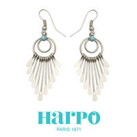 HARPO ハーポ【NAVAJO TURQUOISE BEAD EARRINGS BOW23】ナバホ ターコイズ ビーズ ピアス