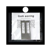 acrylic【レクタングル ミラー】GUM EARRING parts アクリリック 坂雅子