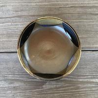 深皿(8寸/約24㎝)赤土黒糠白流し<限定1つ> (02)