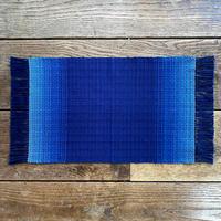 藍染 花風通織 テーブルセンター(小) グラデーション (a-3-1)
