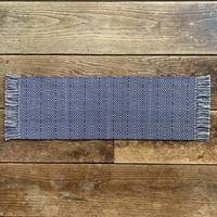 藍染 曲線風通織 テーブルランナー (m-5-1)