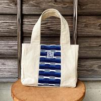 ショルダートートバッグ 藍染 市松織3色×帆布 (b-13-2)