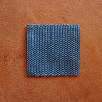 (c1)コースター A(10cm×10cm)   藍染 最小風通織