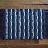 藍染 市松織 テーブルセンター(小) 3色 紺×納戸×白 (b-3-2)
