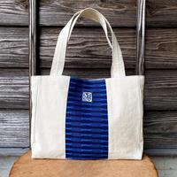 ショルダートートバッグ 藍染 市松織2色×帆布 (b-13-3)