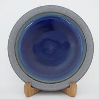 縁鉄砂呉須釉皿(8寸/約24㎝)呉須・縁鉄 (08)