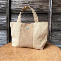 ミニトートバッグ 茶綿平織×薄地帆布 (i-13)