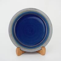 パン皿 (7寸/約21cm) 呉須  縁鉄