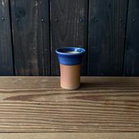 焼締めビールカップ(中 口径約7.5㎝・高さ約10.5㎝)呉須 (06)