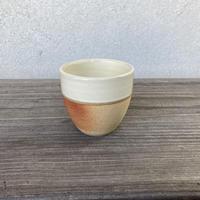 ウォーク型湯呑(小)白下焼〆 (13)