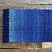 藍染 花風通織 テーブルランナー グラデーション (a-5-1)