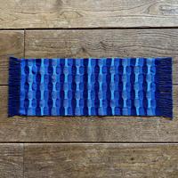 藍染 市松織 テーブルランナー 3色 紺×納戸×水浅葱 (b-5-4)