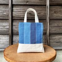 シンプルトート 藍染平織×帆布 (i-13-3)