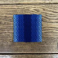 藍染 花風通織 コースター(片面) グラデーション (a-6)