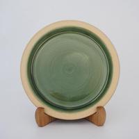 パン皿 (7寸/約21cm) 緑