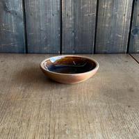 深皿(5寸/約15cm)飴・外焼締め (05)