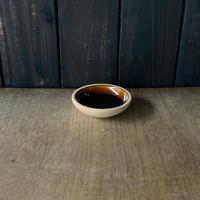 深皿(3.5寸/約10.5cm)飴・外焼締め (05)
