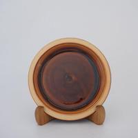パン皿 (6寸/約18cm) 飴