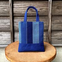 シンプルトート 藍染平織×帆布 (i-13-4)
