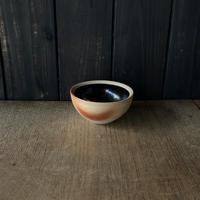 ボウル(4寸/約12cm)黒・外焼締め (05)