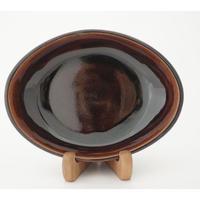 ロクロ楕円深皿(7寸/約24cm×19cm) 飴 (03)