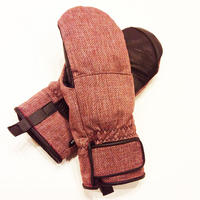 SP-design SHORT MITT GLOVE WOOL  WINE