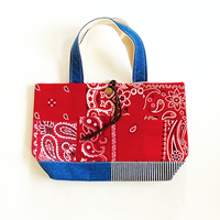 REMADE Patchwork TOTE BAG Small Size.(S) バンダナRED
