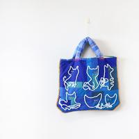 ぺたんこキルトバッグ「mokoneko-bag」