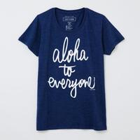aloha to everyone ネイビー WOMEN'S