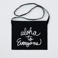 aloha to everyone サコッシュ ネイビー