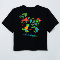 hawaii islands ビックTシャツ ブラック WOMEN'S FREE