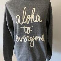 aloha to eve ryone クルーネック ヘザーグレー WOMEN'S